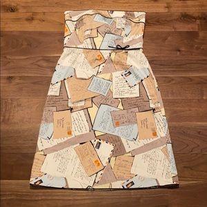 Jcrew strapless postcards dress